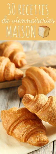 Pains au chocolat, croissants, petits pains briochés : 30 recettes de viennoiseries maison pour le petit déjeuner ! Cooking Bread, Cooking Chef, Batch Cooking, Cooking Recipes, Diabetic Food List, Diabetic Recipes, Churros, Bake Croissants, Donuts