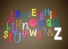 PAINTED Wooden Alphabet Set, MIxed,  Wood Wall Letters, ABC Wall, Alphabet Letters,  Nursery Decor , Baby shower, Gift on Etsy, $145.00