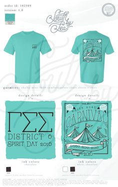 Gamma Sigma Sigma | Carnival Theme Spirit Day | South by Sea | Greek Tee Shirts | Greek Tank Tops | Custom Apparel Design | Custom Greek Apparel | Sorority Tee Shirts | Sorority Tanks | Sorority Shirt Designs