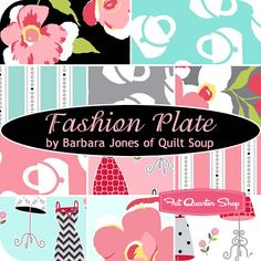 Fashion Plate Fat Quarter Bundle Barbara Jones of Quilt Soup for Henry Glass Fabrics