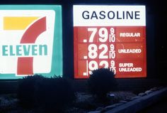 """Sad, sad stuff. I don't remember gas this low, or leaded (""""regular"""") for that matter, but I do remember it under a buck a gallon. *shakes head*"""