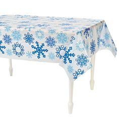 Snowflake Tablecloth - OrientalTrading.com  dessert table decor