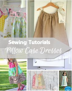 Pillowcase dress tutorials are perfect for beginners! Not much makes me feel like a wonderful seamstress like whipping up a pillowcase dress.