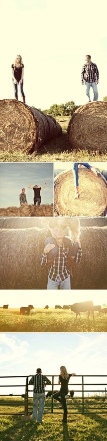 down home/country engagement pics - I think my friend Heather should take some photos like this with her family on their farm. And Ill come and get some too. ;)