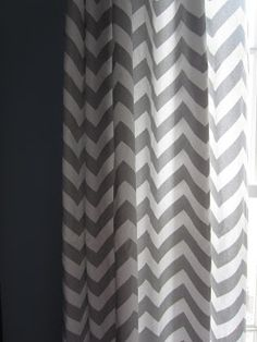 Blue Boys Bedroom Makeover With Chevron Curtains
