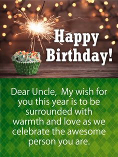 Green Birthday Cake Card For Uncle If You Have An Awesome In Your Life