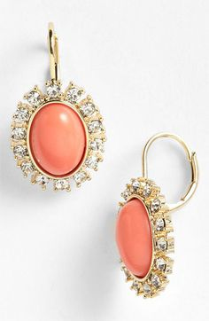 Anne Klein 'Socialite' Oval Drop Earrings available at #Nordstrom