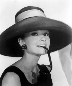 It's Audrey in a lovely Fifties Hat