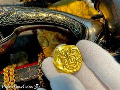 Pirates Gold, Pieces Of Eight, Coin Jewelry, Gold Coins, Monet, Cufflinks, Ebay, Accessories, Villas