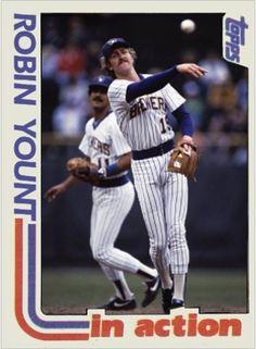 Robin Yount Milwaukee Brewers American Sports, Milwaukee Brewers, Wisconsin, Robin, Baseball Cards, European Robin, Robins