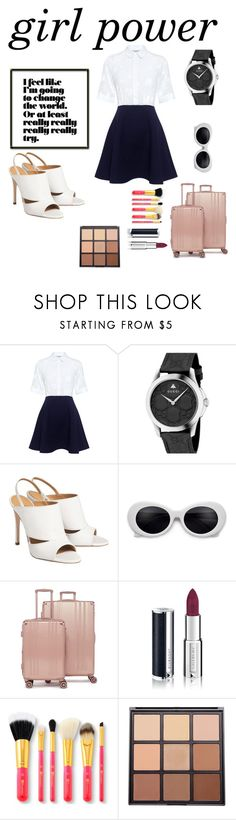 """girl power!"" by nerdasaurusrex ❤ liked on Polyvore featuring Paul & Joe Sister, Gucci, CalPak, Givenchy and Morphe"