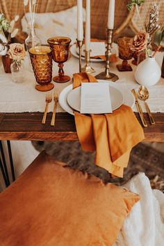 Inspired By This Romantic Desert Inspired Elopement in Florida Chic Wedding, Wedding Reception, Bohemian Wedding Inspiration, On Your Wedding Day, Event Decor, Florida, Place Card Holders, Romantic, Tableware