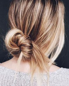 simple messy bun. see tutorial on thebeautydepartme...