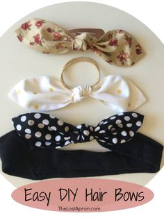 nice 38 Creative DIY Hair Accessories - Easy Hair Bows - Create Pretty Hairstyles for.DIY Hair Bows are easy to make and can be added to hair ties, clips or headbands. The Lost ApronSuper Wedding Bands For Women Vintage Hair Accessories IdeasDiscover Diy Hair Accessories Easy, Vintage Hair Accessories, Hair Accessories For Women, Vintage Hair Bows, Diy Headband, Baby Girl Headbands, Baby Hair Ties, Headband Holders, Baby Bows