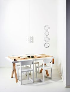 White dining   Scandinavian Deko