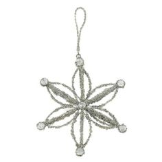 weihnachtsdeko Silberne Blumen Glitzerornamente, Baum Schmuck Satz mit 2 Teilen von ShalinCraft, http://www.amazon.de/dp/B009FX659I/ref=cm_sw_r_pi_dp_57gOsb0TPSYK3