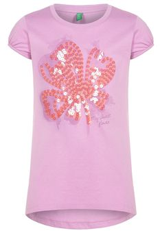 Benetton Print T-shirt - lila - Zalando.co.uk