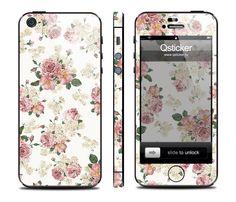 Виниловая наклейка для iPhone 5 Flowers Retro купить в интернет-магазине BeautyApple.ru.