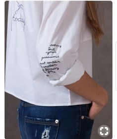 Embroidery Fashion Detail Shirts Ideas For 2019 Embroidery Fashion, Diy Embroidery, Embroidery Designs, Fashion Details, Diy Fashion, Fashion Outfits, School Fashion, Fashion Ideas, Fashion Quotes