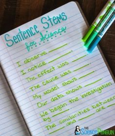 Science Sentence Stems for ELLs-- You can have some standard sentence stems that are used for many classroom activities, as well as sentence stems for particular activities.                                                                                                                                                                                 More