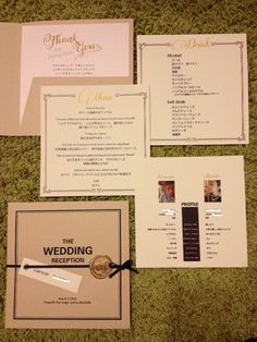 menu & profile book | petite's wedding note ~33歳ハナヨメの結婚準備ブログ~