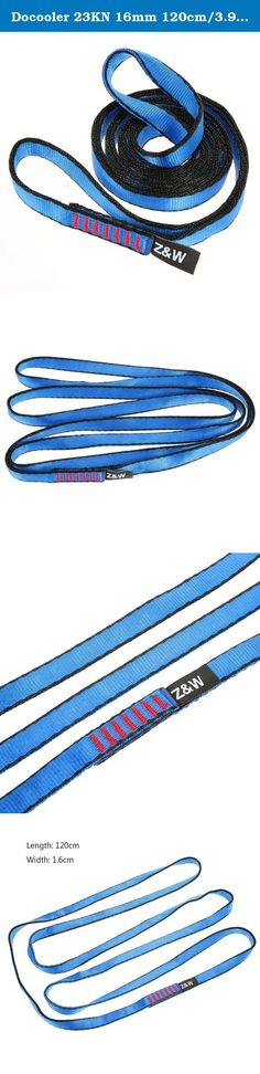 Docooler 23KN 16mm 120cm/3.9ft Rope Runner Webbing Sling Flat Strap Belt for Mountaineering Rock Climbing Caving Rappelling Rescue Engineering. This nylon flat belt with high quality and exquisite workmanship, is durable and safe for activities like rock climbing, mountaineering, caving, rescue, etc. Specifications: Material: Nylon Color: Blue Tension: 23KN Length: 120cm Width: 1.6cm Weight: 80g / 2.82oz Package List: 1 * Flat Strap.