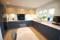 Carrara Quartz, Stiffkey Blue, Shaker Kitchen, Kitchen Inspiration, Surrey, Cladding, Kitchen Design, Opal