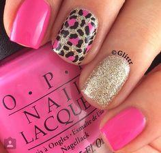 50 Stylish Leopard and Cheetah Nail Designs - Nail Design .- 50 stylish leopard and cheetah nail designs - Cheetah Nail Designs, Leopard Print Nails, Nail Art Designs, Pink Cheetah Nails, Leopard Prints, Nails Design, Hot Pink Nails, Pedicure Designs, Edgy Nail Art