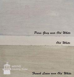 IMG_0085watermark; Annie Sloan Chalk Paint - paris grey over old white