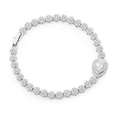 'Olympia' Cubic Zirconia Wedding Bracelet - Item No: MB-3715