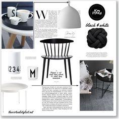 Black & White items to pimp up your livingroom - Fashion look Creative Home, Art Decor, Home Decor, Mood, Black And White, Table, Furniture, Design, Decoration Home