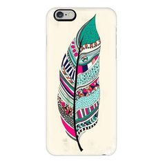 iPhone 6 Plus/6/5/5s/5c Case - Aztec Feather ($40) ❤ liked on Polyvore