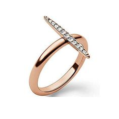 MKJ3524 Michael Kors Brilliance Matchstick Ring Sz 8 Rose Gold Tone Crystal Pave  #michaelkors #beatifulrings #rings #thevintagerings #fashion #statementrings #womenfashion