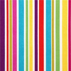 cute Michael Miller fabric with many colourful stripes
