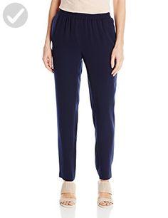 Nine West Women's Solid Crepe Pant with Elastic Waistline, Navy, 16 for sale Best Waist Trainer, Pants For Women, Clothes For Women, Fashion Pants, Nine West, Fit Women, Pajama Pants, Sweatpants, Navy
