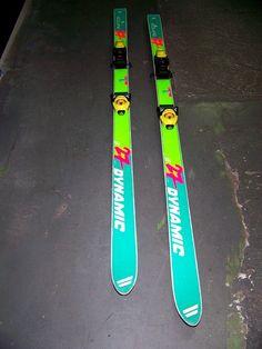 Pareja De Esquis Skiess Skys infantiles dynamic equipe 27 170 cm Buen estado!!!