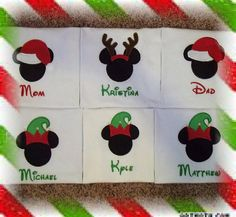 Disney Mickey Minnie Christmas Shirt Family by MouseKouture1, $21.00