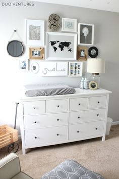 painting ikea hemnes dresser duo ventures the nursery custom dresser in the most amazing in addition to gorgeous nursery dresser and changing table with regard to inspire stain ikea hemnes dresser Coastal Nursery, Nursery Neutral, Nautical Nursery, Nursery Furniture, Nursery Room, Ikea Nursery, Wood Nursery, Nursery Dresser, Dresser Furniture
