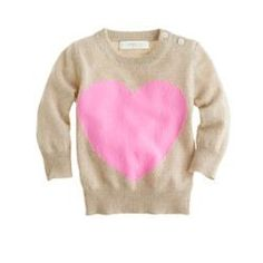 cashmere baby sweater in heart me