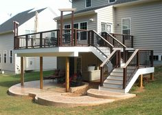 Stairs to the east, plexi railing, remove middle post