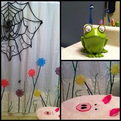 Charlotte's Web children's bathroom. Childrens Bathroom, Baby Bathroom, Charlotte's Web, Mansion, Programming, Decor Ideas, Decorating, Future, Projects