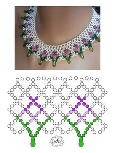 Crochet Jewelry Tutorial Pearls Ideas For 2019 Diy Necklace Patterns, Seed Bead Patterns, Beaded Jewelry Patterns, Beading Patterns, Necklace Ideas, Seed Bead Jewelry, Bead Jewellery, Necklace Tutorial, Beads Tutorial