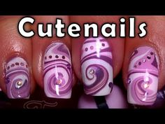 Image detail for -Nail art : Water Marble Swirl design (Spirale) Star Nail Designs, Nail Art Designs Videos, Pretty Nail Designs, Gel Nail Designs, Nails Design, Get Nails, Hair And Nails, Water Nail Art, Swirl Nail Art