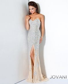 Jovani Crystal Encrusted Evening Gown
