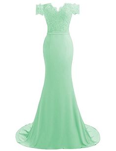 HEIMO Women's V-Neck Mermaid Evening Party Gowns Appliques Formal Prom Dresses Long H115