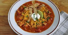 My Carolina Kitchen: Barefoot Contessa's Mexican Chicken Soup & Our Very Own Homemade Tortilla Strips for Garnish
