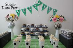 Kims Kandy Kreations: Soccer Team Party Dessert Table