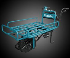 Make like you're strong as an ox with a little help from the Makita Power-Assisted Flat Dolly. You can load up your cart heavier, and pull it farther thanks to this big boy's Makita-built BL Brushless Motor, and your choice of one or a pair of LXT ba Cool Tools, Diy Tools, Trailer Storage, Construction Tools, Furniture Dolly, Garage Workshop, Makita, Wheelbarrow, Go Kart