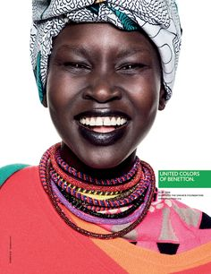 Alek Wek for United Colors of Benetton SS 2013 Campaign.