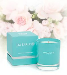 Liz Earle Eucalyptus and Rosemary Candle made from a natural blend including soy wax and beeswax and enriched with pure essential oils of eucalyptus and rosemary.